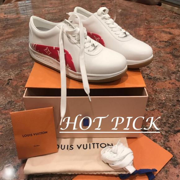 3f36a51b8937 AUTHENTIC Louis Vuitton X Supreme Sneakers